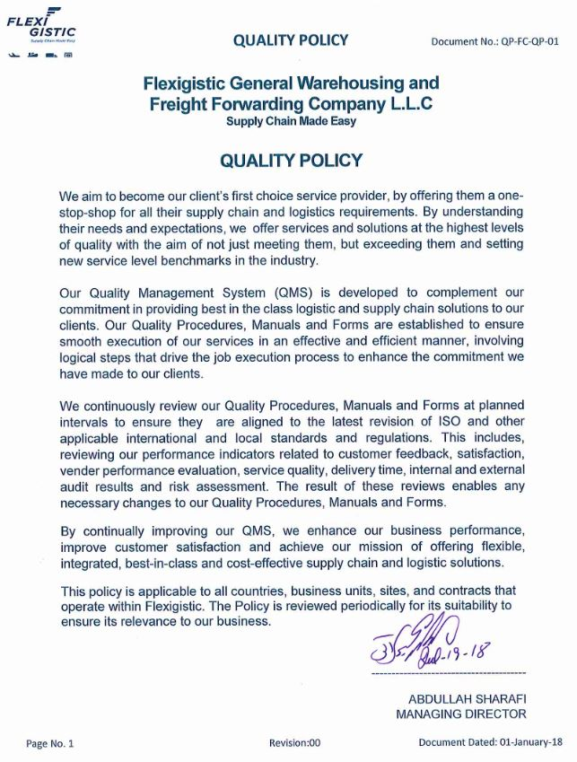About Flexigistic - Leading Logistics & Supply Chain Provider in th